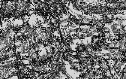 Old map of Peasehill in 1895