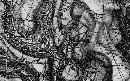Old map of Winny Stone in 1896
