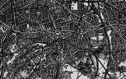 Old map of Peckham in 1896
