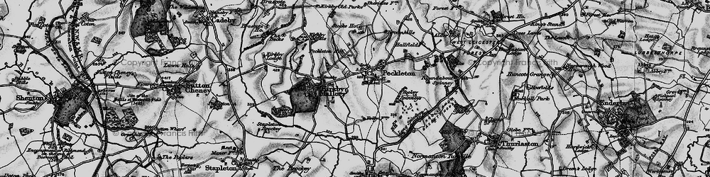 Old map of Tooley Spinneys in 1899