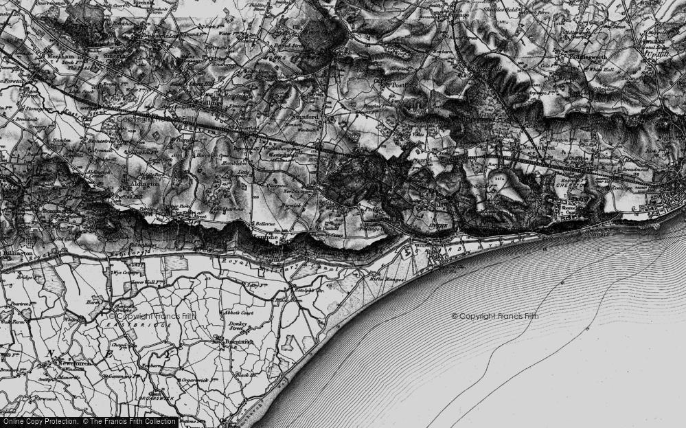 Old Map of Pedlinge, 1895 in 1895