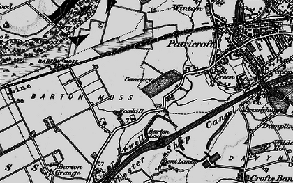 Old map of Peel Green in 1896