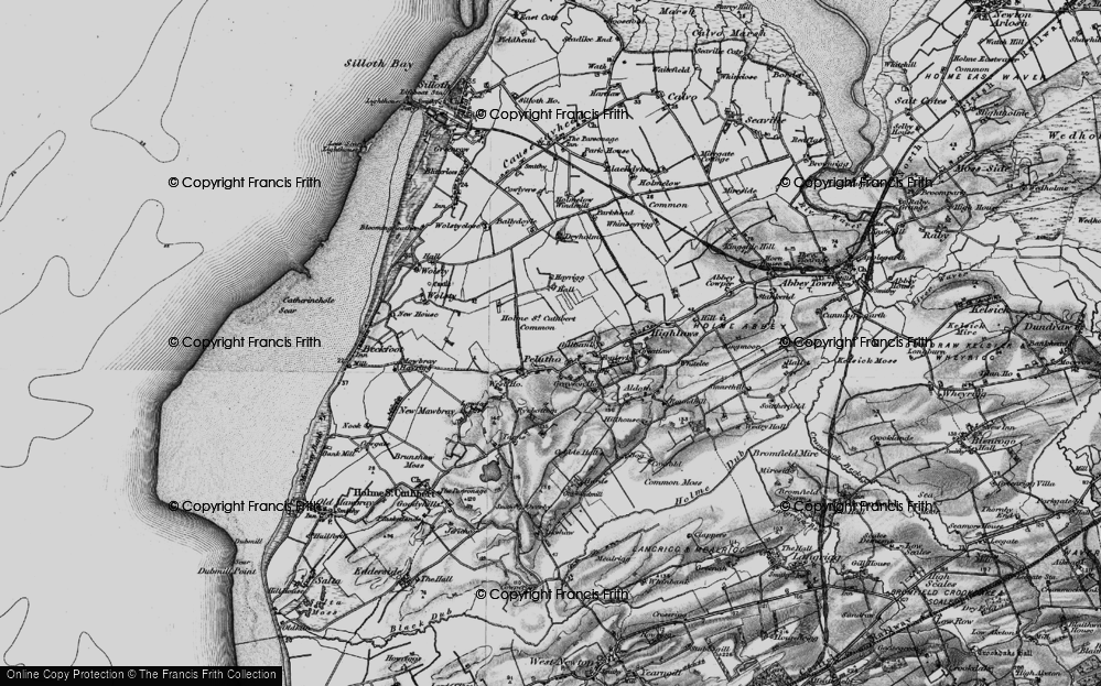 Old Map of Historic Map covering Balladoyle in 1897