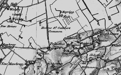 Old map of Balladoyle in 1897