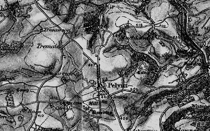Old map of Pelynt in 1896