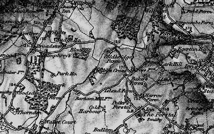Old map of Link House in 1895