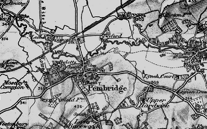 Old map of Pembridge in 1899