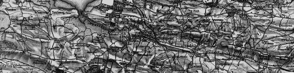 Old map of Pembroke in 1898