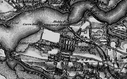 Old map of Pembroke Dock in 1898