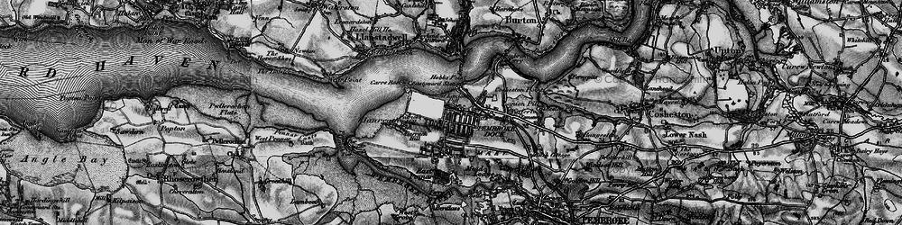 Old map of Pembroke Dock in 1898