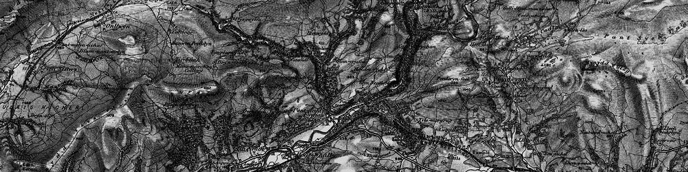 Old map of Afon Pyrddin in 1898