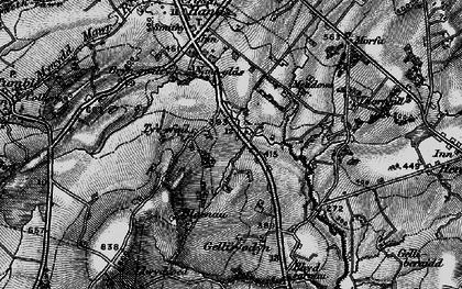 Old map of Blaenau in 1897