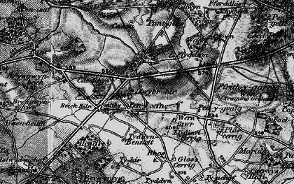 Old map of Rhos in 1896