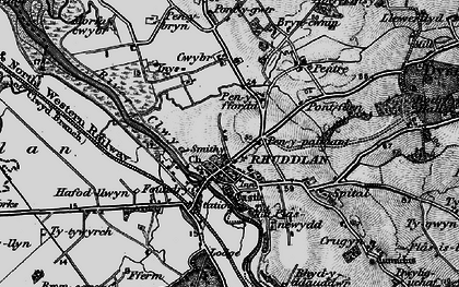 Old map of Ynys in 1898