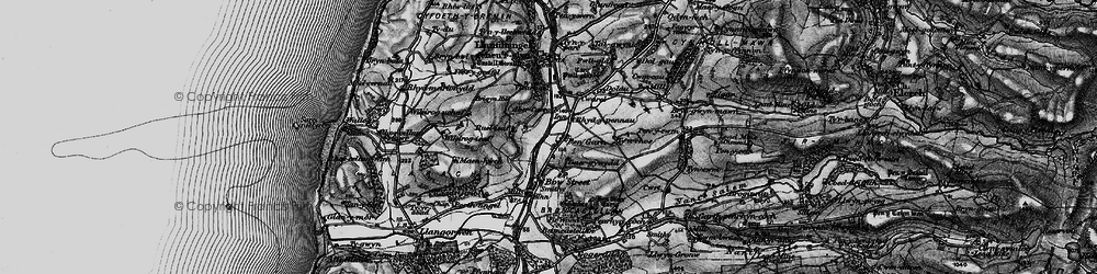 Old map of Wileirog in 1899