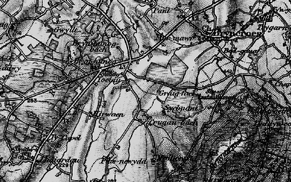Old map of Tocia in 1898