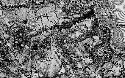 Old map of Penbeagle in 1896