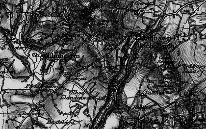Old map of Afon Horon in 1898