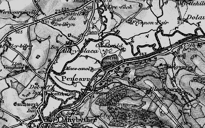 Old map of Abergrannell in 1898