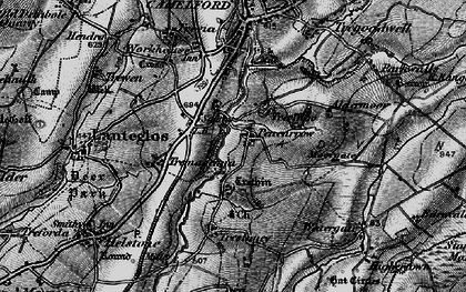 Old map of Pencarrow in 1895