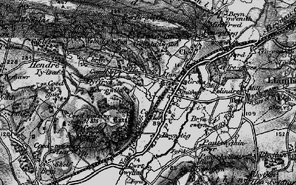 Old map of Pencoed in 1897