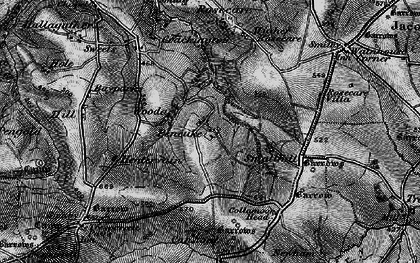 Old map of Pencuke in 1896