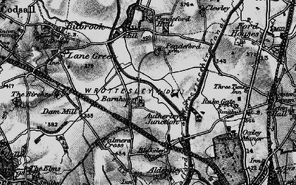 Old map of Autherley Junction in 1899