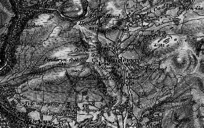 Old map of Afon Hepste in 1898