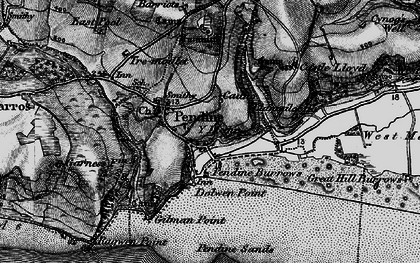 Old map of Pendine in 1898