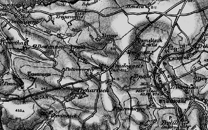Old map of Pendoggett in 1895