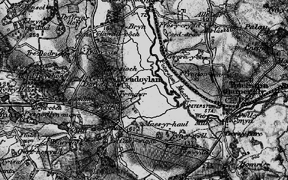 Old map of Allt Laes in 1897