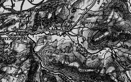 Old map of Afon Crewi in 1899