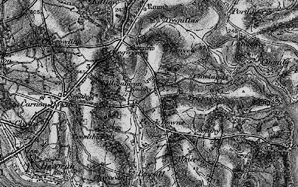 Old map of Penelewey in 1895