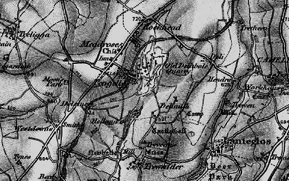 Old map of Pengelly in 1895