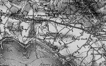 Old map of Pengersick in 1895