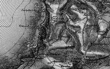 Old map of Pengold in 1896