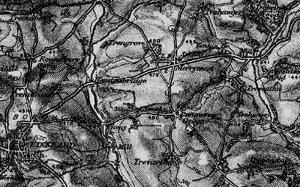Old map of Pengover Green in 1896