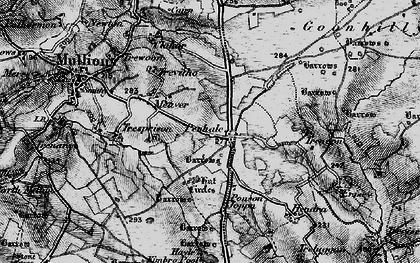 Old map of Penhale in 1895