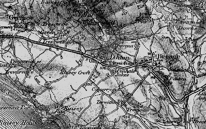 Old map of Penhale Jakes in 1895