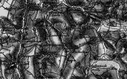 Old map of Penhallow in 1895