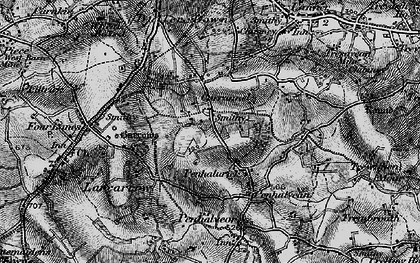 Old map of Penhalurick in 1895