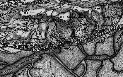 Old map of Aber-Tafol in 1899