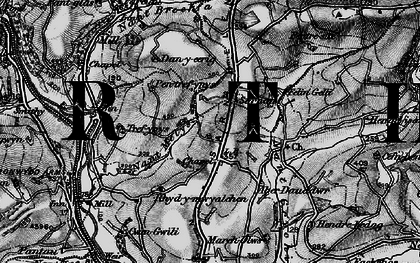 Old map of Afon Gwili in 1898
