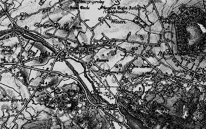 Old map of Afon Rhythallt in 1899
