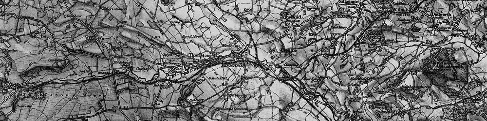Old map of Penistone in 1896