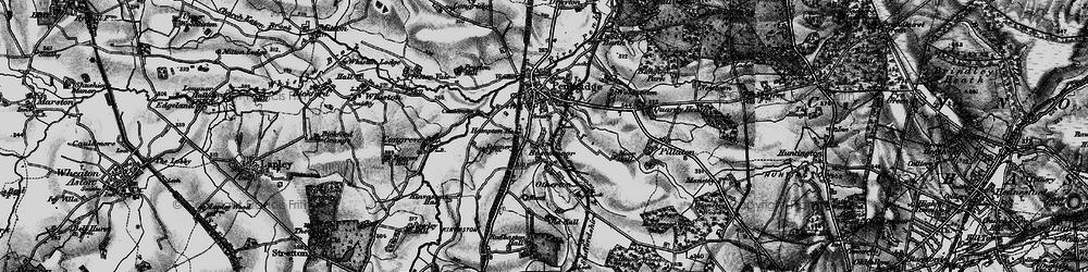 Old map of Penkridge in 1898