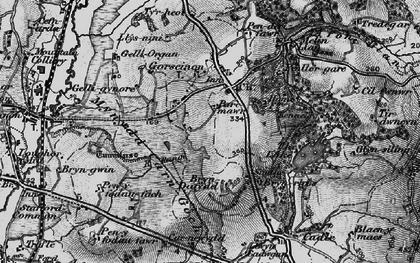 Old map of Penllergaer in 1897