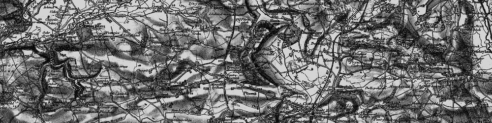 Old map of Penllyn in 1897