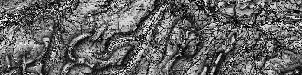Old map of Afon Machno in 1899