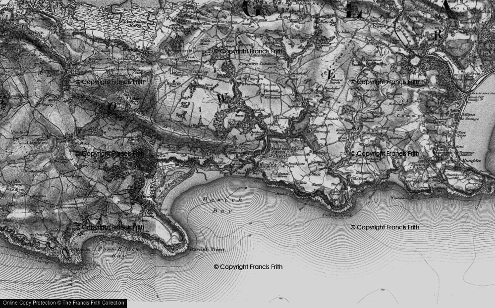 Old Map of Penmaen, 1897 in 1897